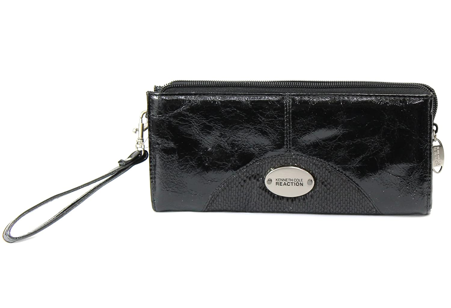 Kenneth Cole Reaction Wallet, Distressed Faux Leather Zip Clutch Mini Bag
