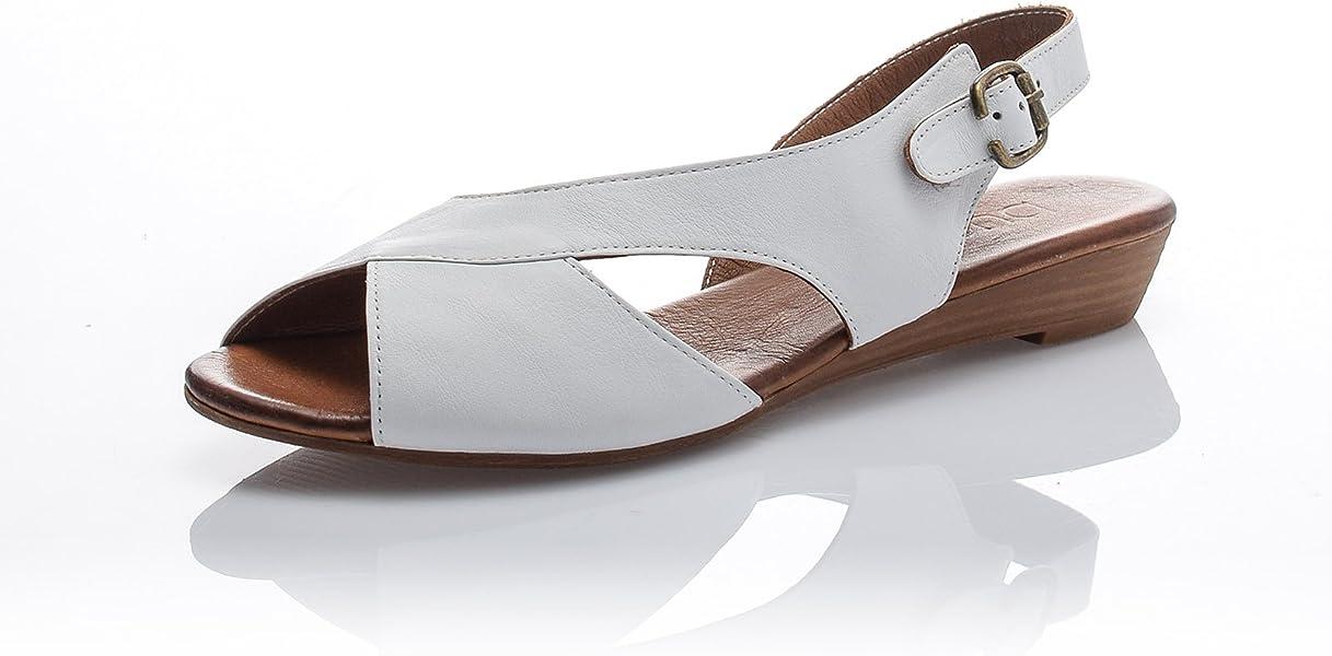 Damen Peep Toe Ybf76g Slingback Bueno Sandalen Sandaletten Echtleder 0wknOXP8