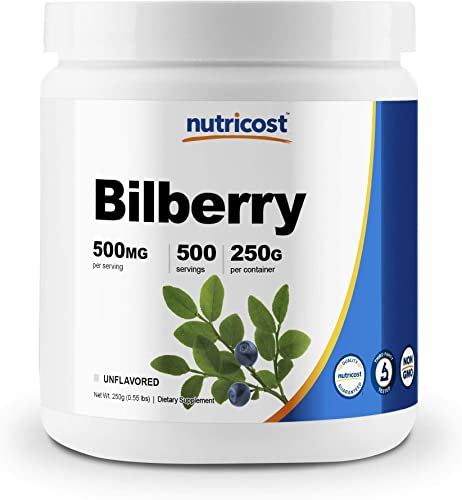 Nutricost Bilberry Powder 250 Grams – Gluten Free and Non-GMO