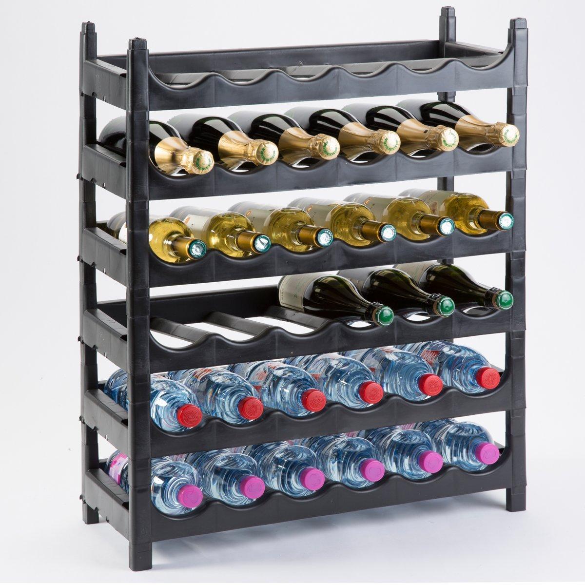 SoBazar - Etagère à bouteille/support bouteille modulable plastique 36 bouteilles