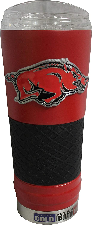 Great American Arkansas Razorbacks 24 oz Powder-Coated Draft Beverage Tumbler with Grip