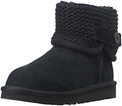 UGG Girls' Darrah-K, Black, 1 M US Big Kid