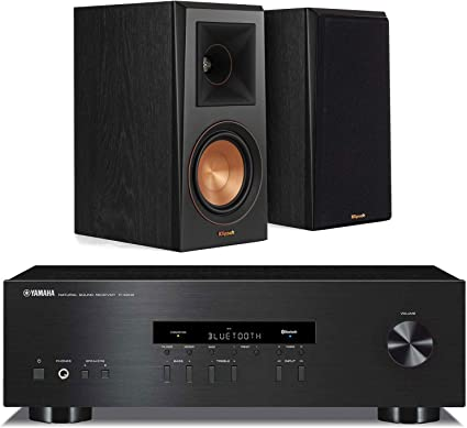 Bookshelf speakers Kit Yamaha RS202BL Stereo Receiver w//Polk Audio TSi 100 Pr.