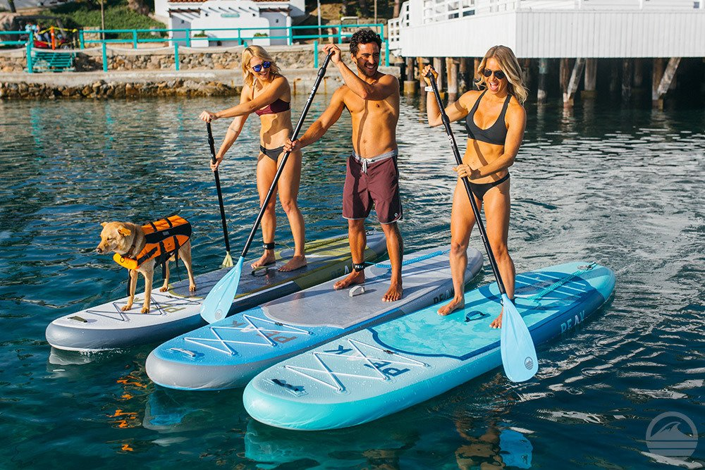 Peak All Around Inflatable Stand Up Paddle Board Package | 10'6'' Long x 32'' Wide x 6'' Thick | Durable and Lightweight SUP | Stable Wide Stance | White by PEAK Paddle Boards (Image #8)