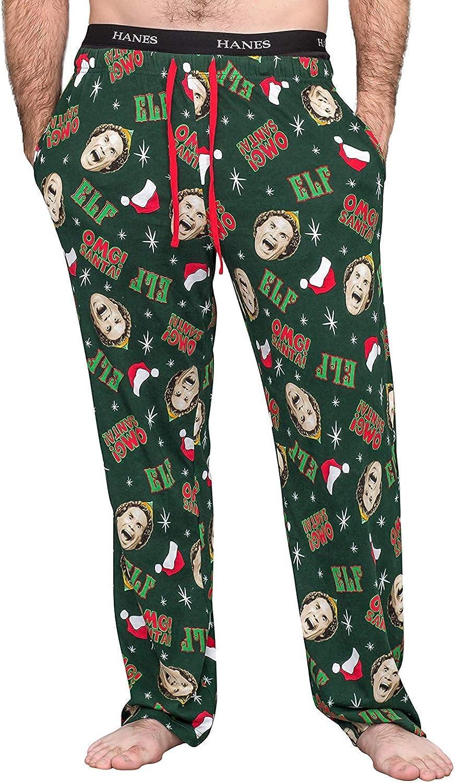 Underboss Elf OMG! Santa! Adult Hunter Green Pajamas Lounge Pants
