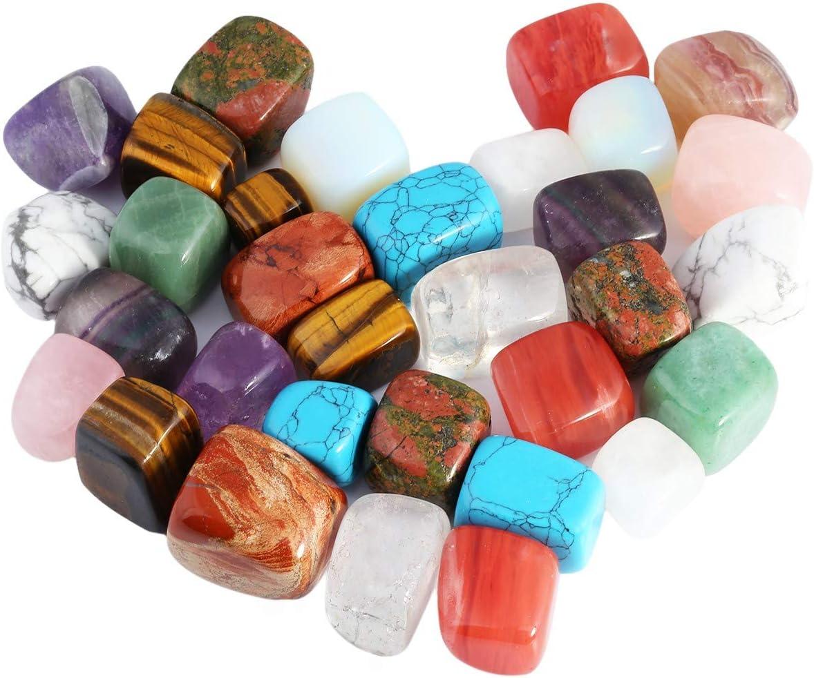 KYEYGWO - Piedras Preciosas para vicca, Reiki, Cristal curativo, Piedras Irregulares (Aprox. 460 Gramos, 1-gemischter Stein