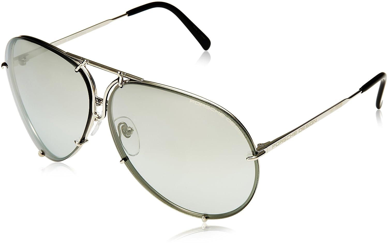 de70cc39b0e2 Amazon.com  Porsche Designs Sunglasses P8478 B Titanium Gray Gradient with  Silver Mirror Green 69 10 135  Porsche  Clothing