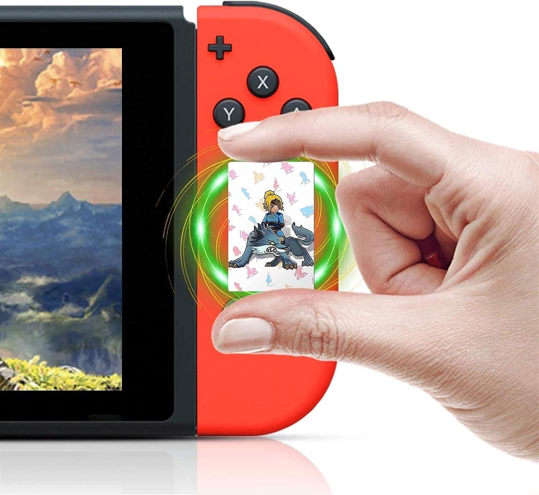 CXCF 24 PCS NFC Tarjetas de Etiqueta para la Leyenda de Zelda Aliento de la Naturaleza, BOTW para el Despertar de Link para el Interruptor/Switch Lite/Wii u [Mini Tamaño] -789331