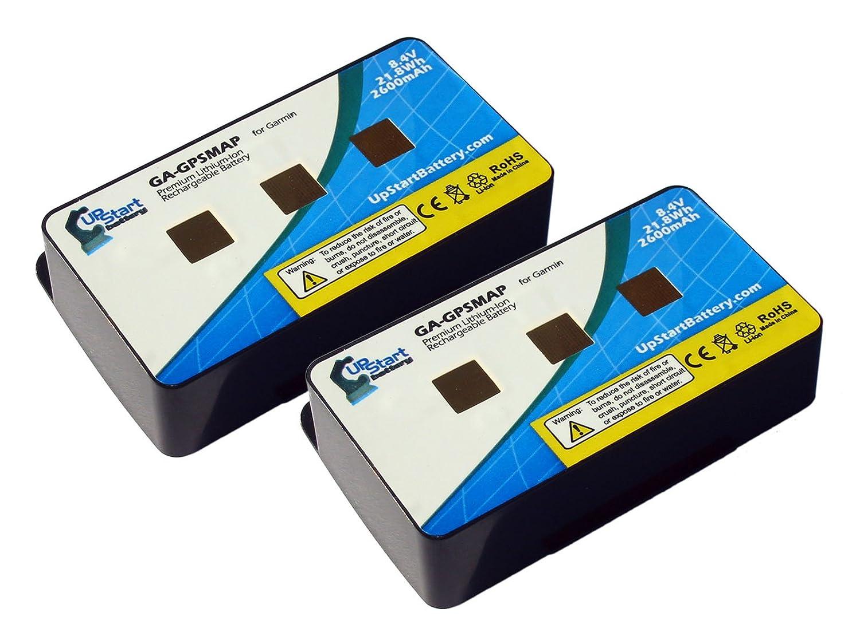 2x Pack - 010-10517-01 Replacement Battery for Garmin GPSmap 276, 276c, 296, 376, 376c, 378, 396, 478, 495, 496 Navigators – UpStart Battery brand with Lifetime Warranty GA-GPSMAP-2BATT