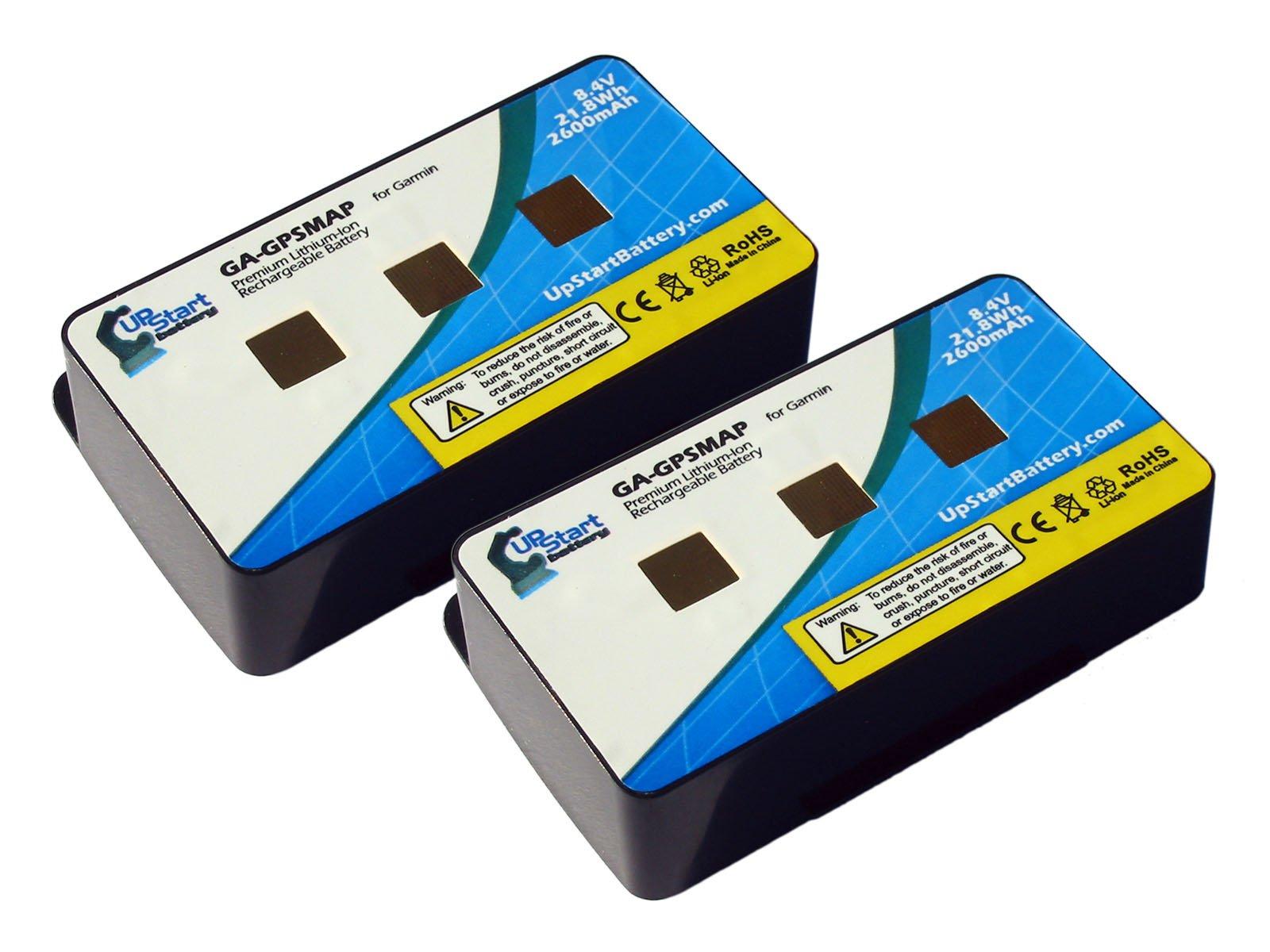 UpStart Battery 2X Pack - 010-10517-01 Replacement Battery for Garmin GPSmap 276, 276c, 296, 376, 376c, 378, 396, 478, 495, 496 Navigators Brand with by UpStart Battery