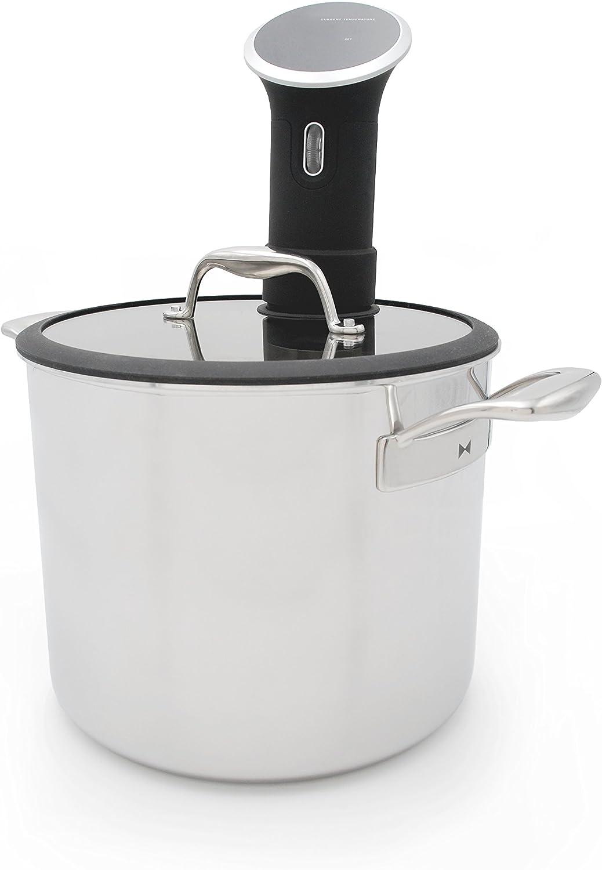 Tuxton Home THBCZ3-SS9-G Chef Series Sous Vide Pot, 9.8-Quart, Silver