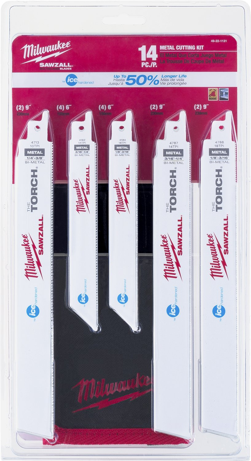 Milwaukee 49-22-1131 14 Piece Ice Edge Sawzall Blade Set