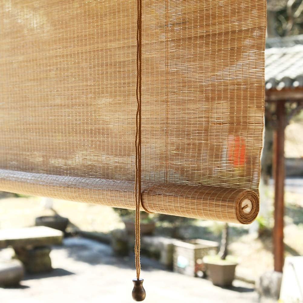 LXLA - Estor Enrollable de bambú para pabellón Largo, Pasillo, Tetera, 100 cm, 120 cm, 130 cm, 14 cm, 150 cm de Ancho, con Accesorios: Amazon.es: Hogar