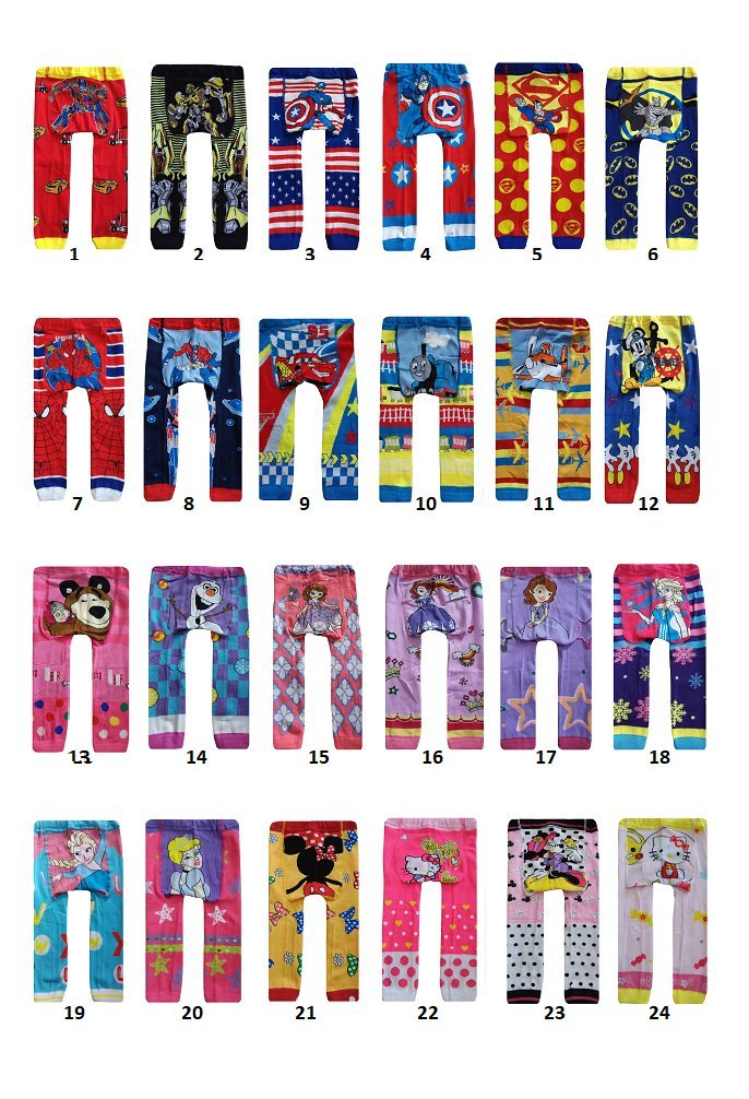 BUY ONE GET ONE FREE baby toddler boy girl unisex leggings tights trousers pants (90 12-24 months, design 1) am-ukseller