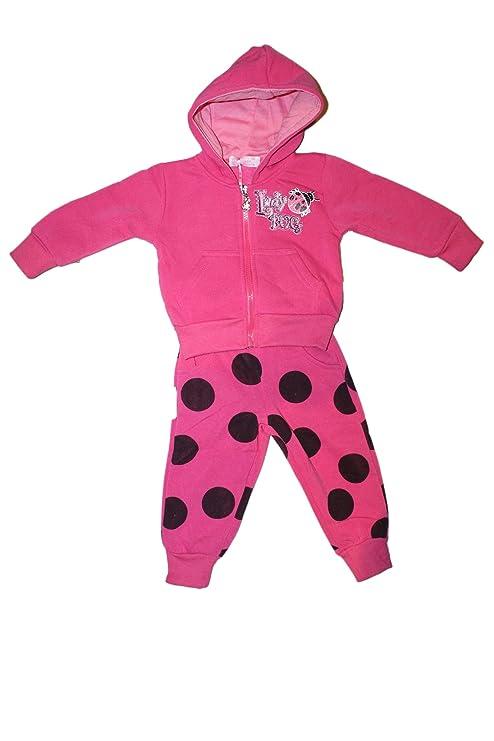 nouveau produit 9139c 1264b jogging survetement-rose fushia-bebe fille (6 mois)