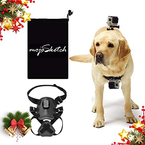 Mojosketch Dog Harness Mount Chest para GoPro Hero 8 7 6 5 2018 ...
