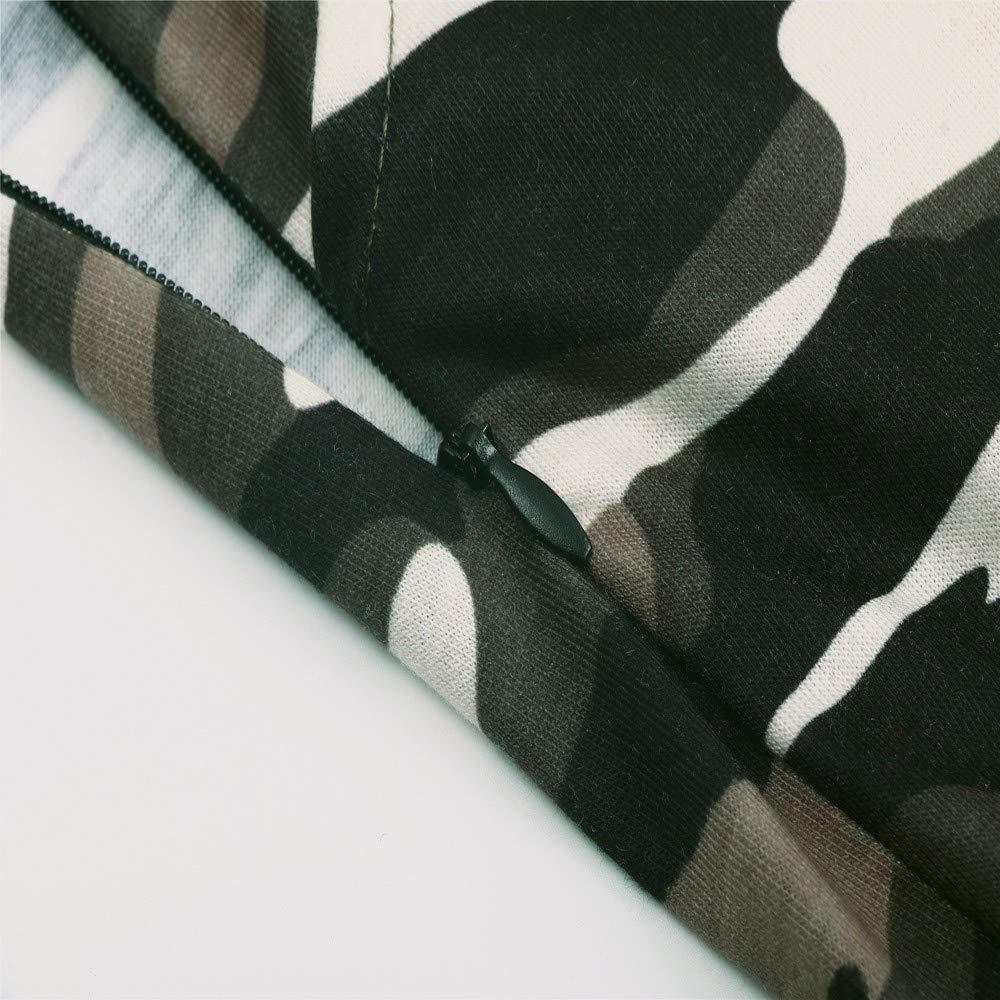 Sunenjoy Combinaison Bretelles /Ét/é Jumpsuit Grande Taille Bodysuit Loose Large Ample Harem Sarouel Pantalon Poche S-2XL Salopette Camouflage Femme