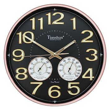 @Reloj de Pared Números luminosos del reloj de pared redondo de 12 pulgadas Fácil de leer ...