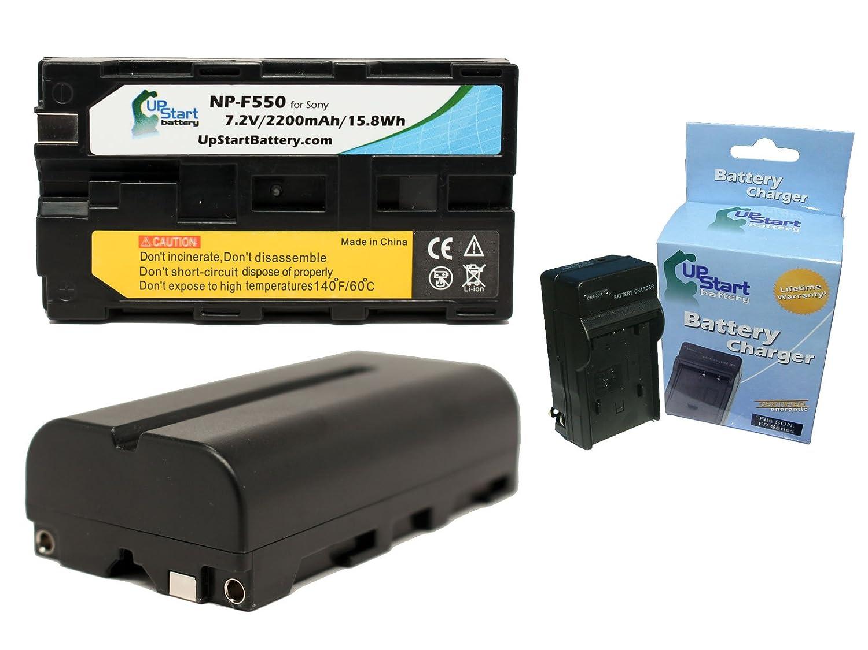 2x Pack - Neewer CN-160 Battery + Charger - Replacement for Neewer CN-160 LED Video Light Battery and Charger (2200mAh, 7.2V, Lithium-Ion) Upstart Battery NP-550-2BATT1CH-DL338