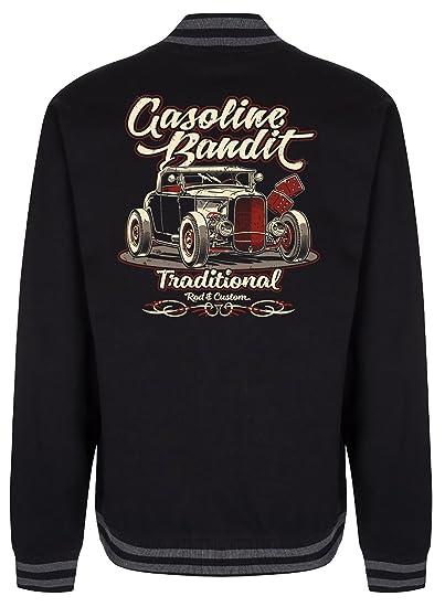College JackeHot Traditional Bandit Rockabilly Rod Gasoline Baseball tQdhsr
