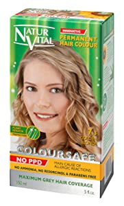 Permanent Hair Dye,Permanent Hair Color. Coloursafe, No Ammonia,Resorcinol or Parabens (~7.3 Golden blonde Hair)