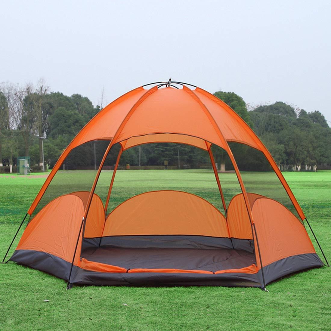 Sakuldes Regendichtes für und atmungsaktives Zelt für Regendichtes Camping im Freien, 3 Personen und 5 Personen (Farbe   Orange) dd9dd1