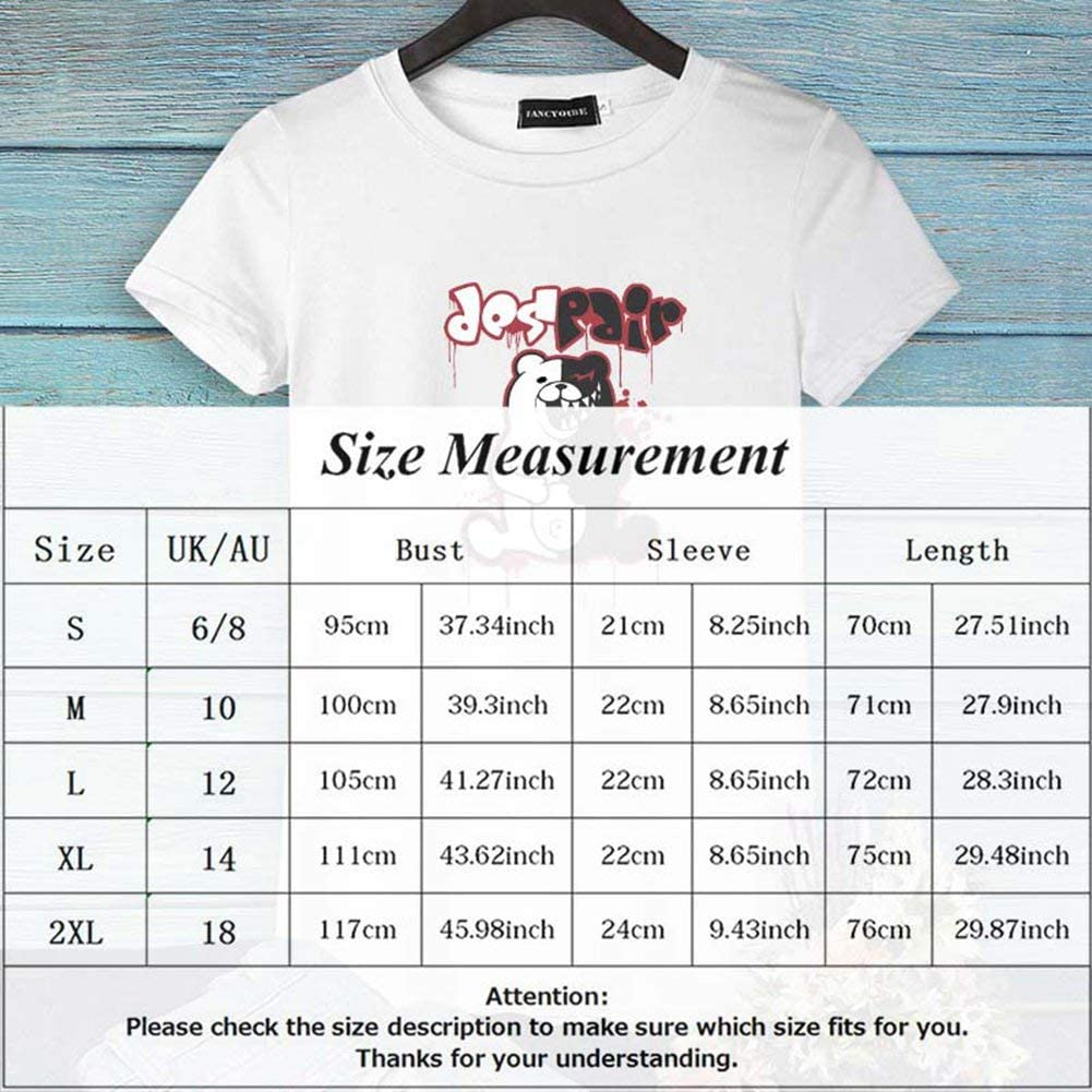 Peoria Danganronpa T-Shirt Short Sleeve Crewneck Anime T-Shirts for Lovers Men and Women