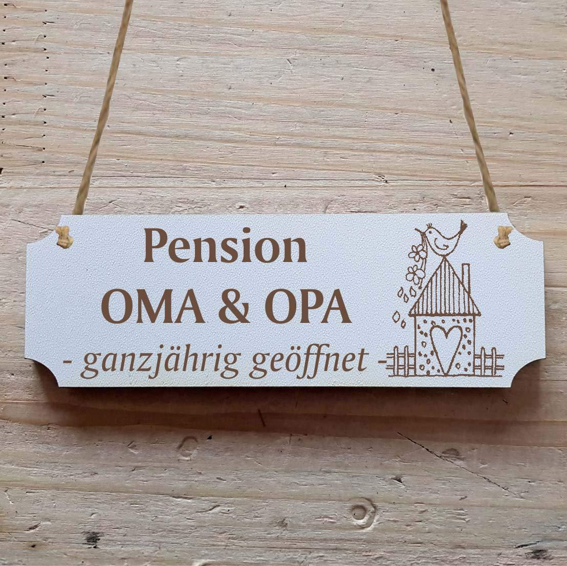 Cartel « Pension abuelo y abuela - Todo el año abierto » a ...