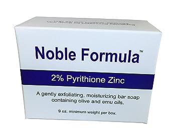 Noble Formula 2% Pyrithione Zinc (ZnP) Original Emu Bar Soap, 3 oz