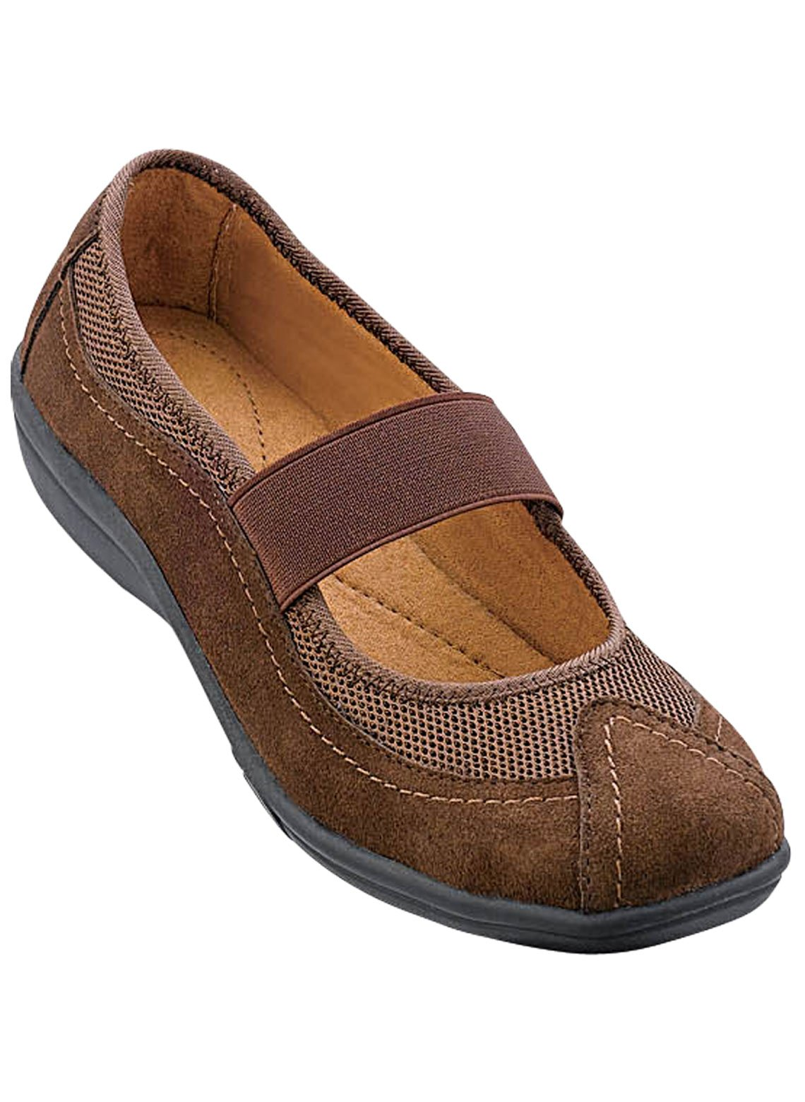 Carol Wright Gifts Mary Jane Casuals, Brown, Size 11 (Wide)