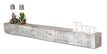 levandeo Wandregal Holz Massiv 100x10cm Shabby Chic