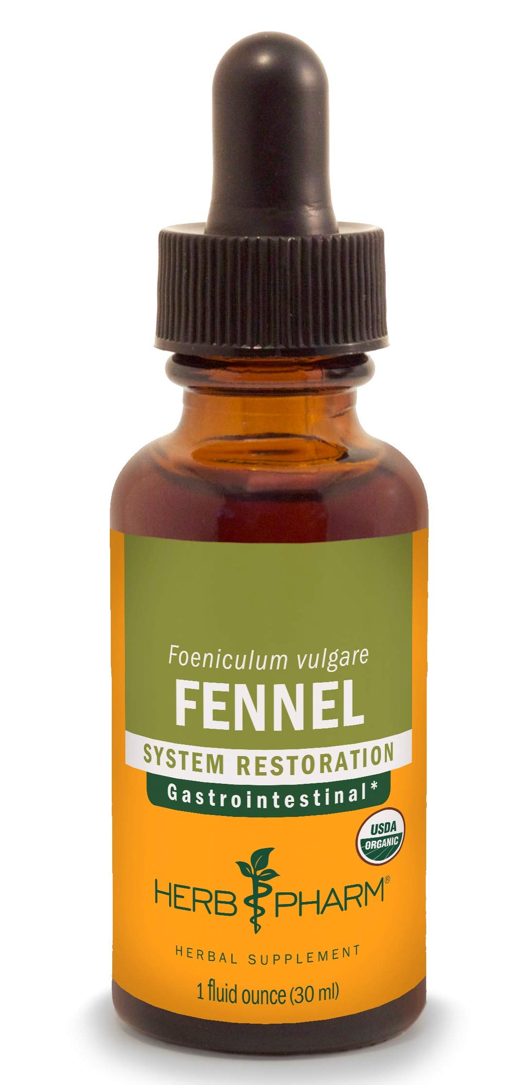 Herb Pharm Certified Organic Fennel Liquid Extract for Digestive System Support - 1 Ounce