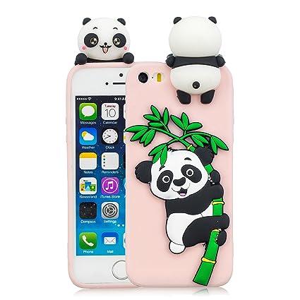 4420319d971 HopMore Compatible con Funda iPhone 5S / SE / 5 Silicona Dibujo 3D  Divertidas TPU Gel