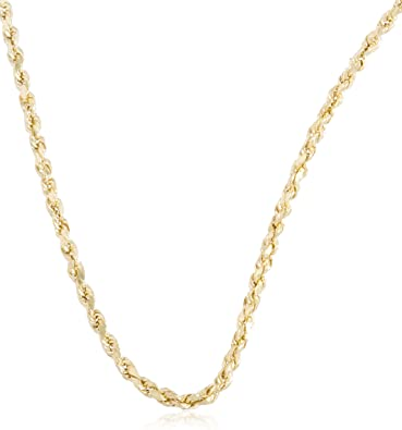 """Real 14k Yellow Gold Rope Chain Necklace 2mm 16/"""" 18/"""" 20/"""" 22/"""" 24/"""" Inch 2 MM"""