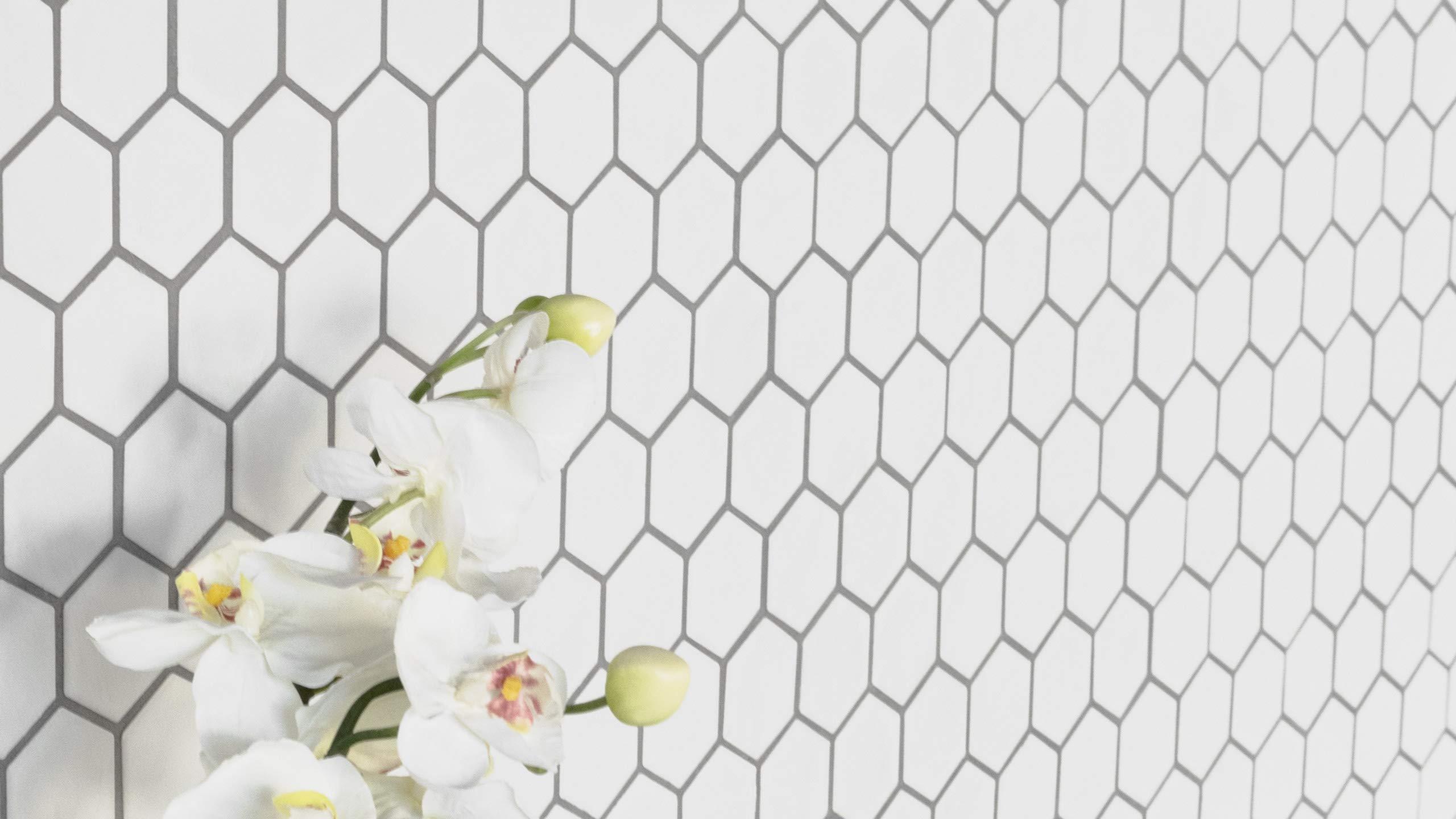1 Carton/10 SQFT | White 2'' Hexagon Mosaic Tile by Thomas Avenue Ceramics