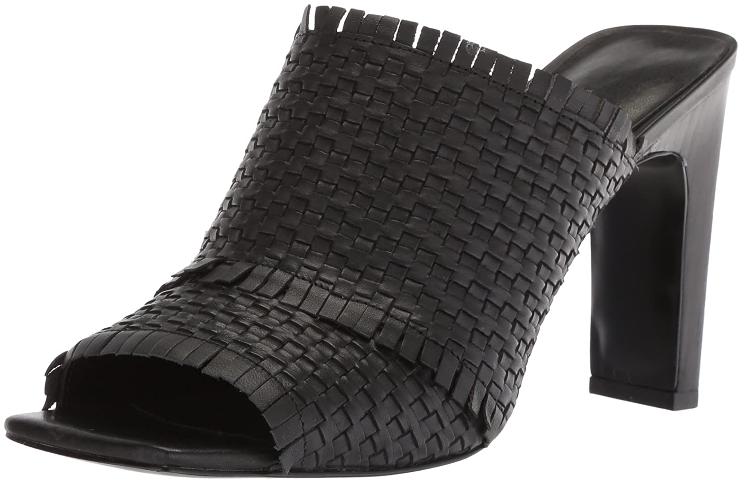 Nine West Women's Lucili Leather Slide Sandal B074NJT3VJ 6 M US|Black Leather