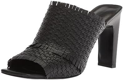 276febdd335 Nine West Women s LUCILI Leather Slide Sandal Black