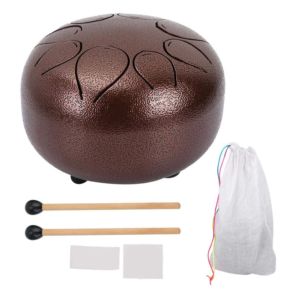 Stainless Steel Handpan Tongue Drum Chakra Drum 5 Inch Percussion With FREE Bag & Mallets.