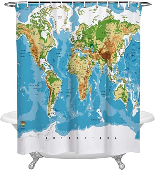 Amazon.com: KAROLA Waterproof Custom Bathroom Shower Curtain ...