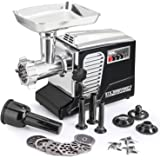 """The All New Patented Model STX-4000-TB2 Turboforce II """"Quad Air Cooled"""" Black Electric Meat Grinder & Sausage Stuffer - The Ultimate in Power, Style and Performance."""