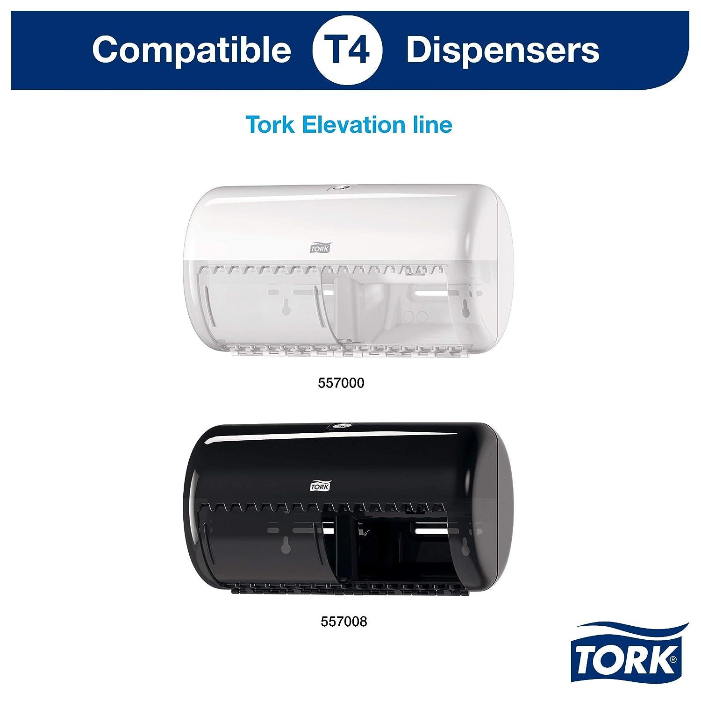 Tork 3065 Rollos de papel higiénico Premium compatibles con el sistema higiénico de rollos pequeños Tork T4, 6 paquetes x 10 rollos (10 x 150 hojas): ...