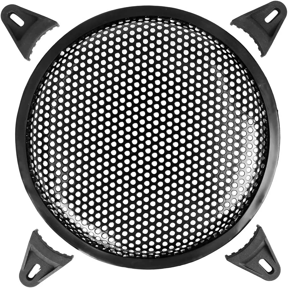 X AUTOHAUX 8 Inch Car Audio Speaker Sub Woofer Subwoofer Metal Black Waffle Grill Cover Protector Universal