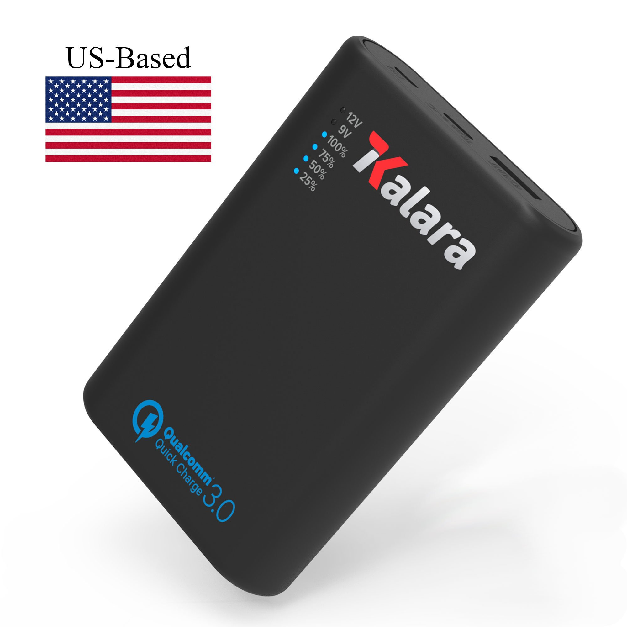 US-based: Kalara 10000 mAh Portable Charger Power Bank - pocket sized, fast charger (high-speed QC 3.0), durable (bike, ski, camp, festivals). Charges most phones 2-3 times; powers most USB devices