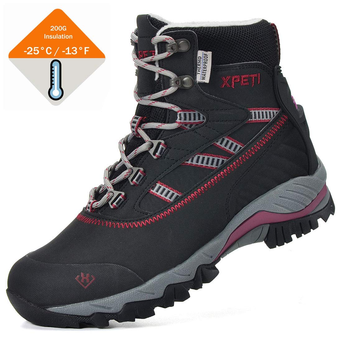 XPETI Women/'s Oslo Winter Snow Waterproof Hiking Boots
