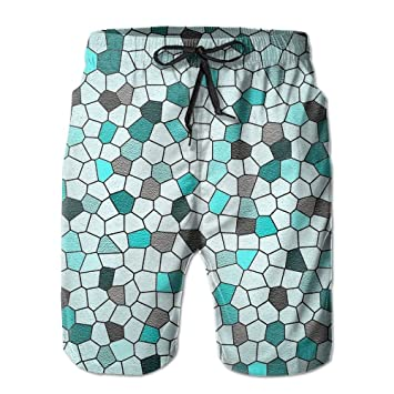 397512e9bf DIMANNU Men's Shorts Swim Beach Trunk Summer Diamond Colorful Pattern Fit
