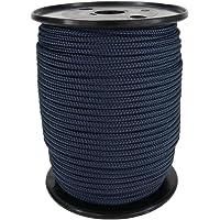 Corde Cordage PP 6mm 100m Bleu Marine (0112) Tressé Polypropylène