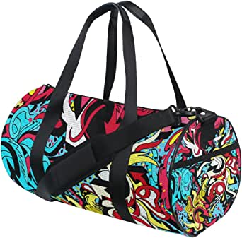 Tropical Fish Pattern Interesting Mens And Womens Travel Folding Bags Gym Sports Waterproof Light Travel Bags