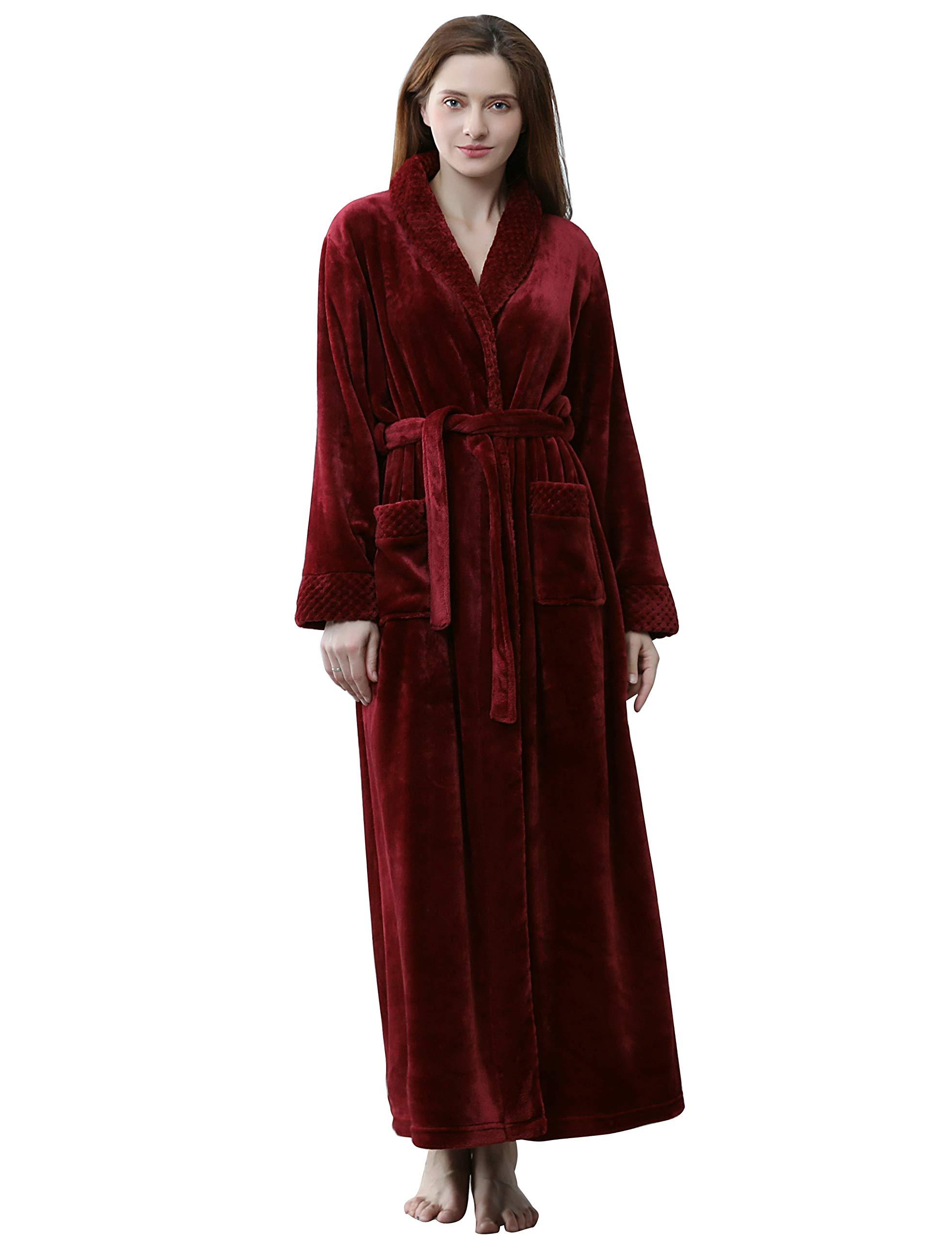 SEEU Shower Robe for Women Rose L