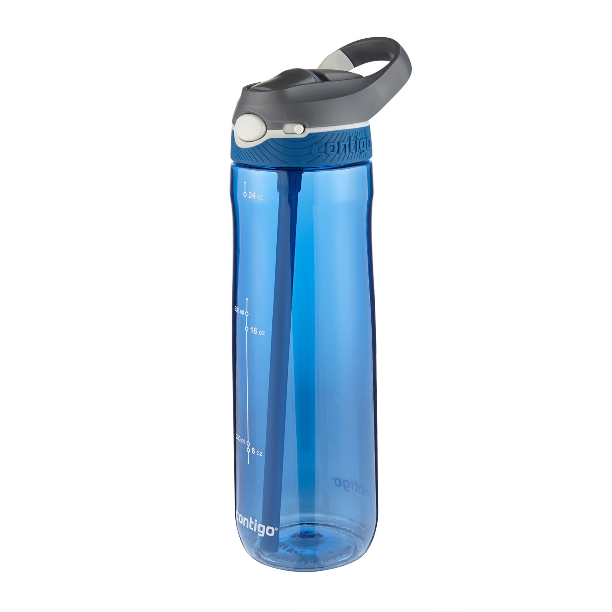 Contigo AUTOSPOUT Straw Ashland Water Bottle, 24 oz, Stormy Weather/Vibrant Lime/Monaco, 3-pack by Contigo (Image #4)