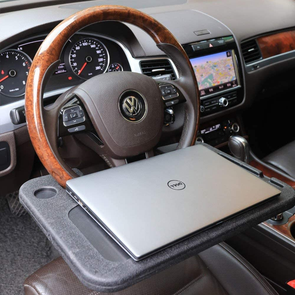 Gray DAIFUQIHUA Steering Wheel Tray Portable Multifunctional Desk for Laptop Eating Travelling